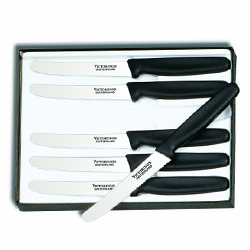 Victorinox Steak Knife Set - Black Rounded